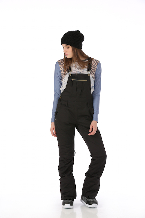 686 Black Magic Overall ski snowboard pants for women