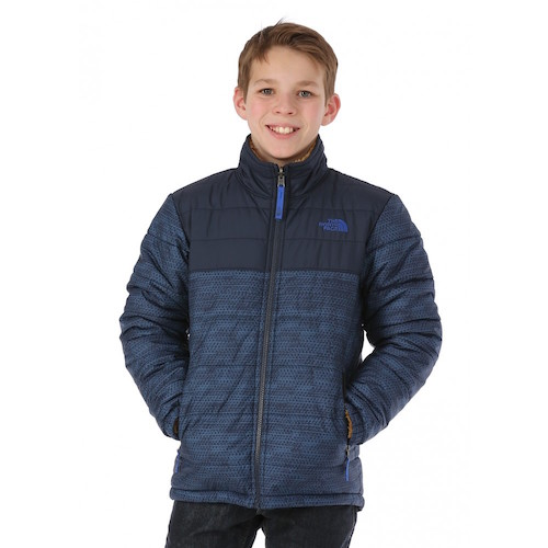 The North Face Boys Reversble Jacket in Mount Chimborazo Cosmic Blue Chain