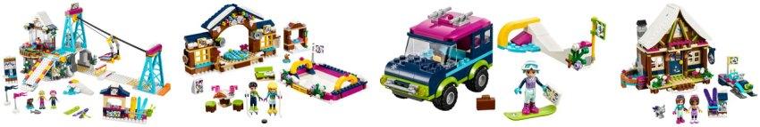 Lego snow resort building kits