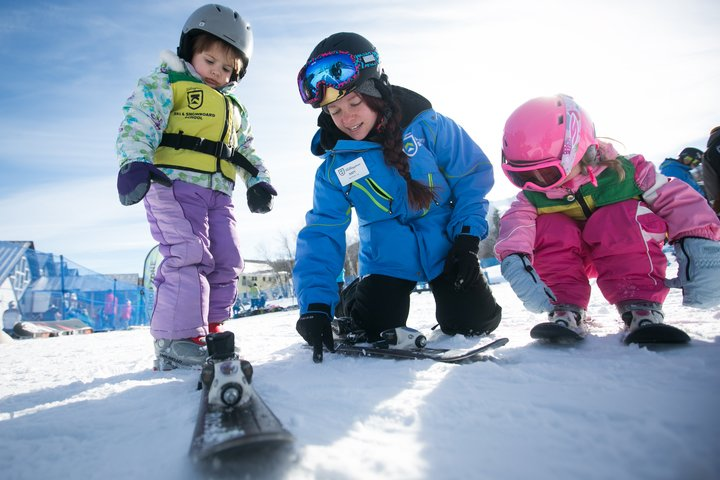 children's ski school at killington