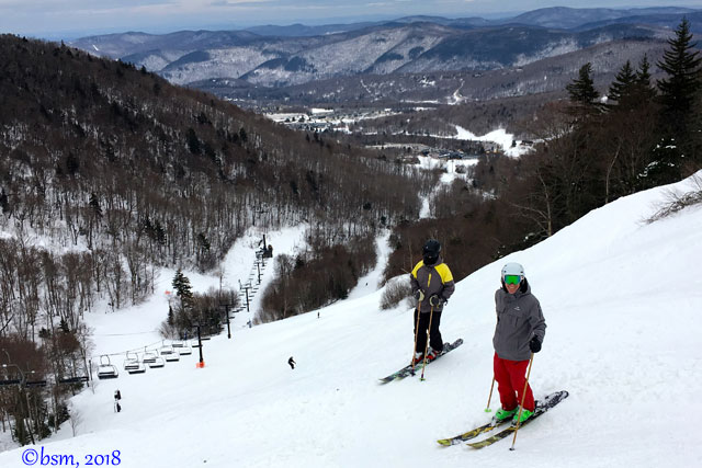 family skiing at killington