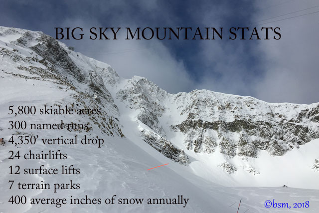 big sky ski resort statistics