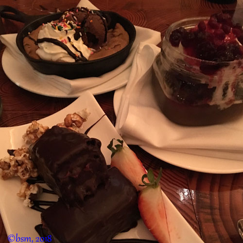 desserts at stowe mountain lodge