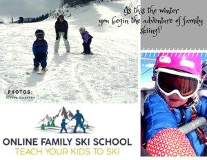 online family ski school teach children to ski