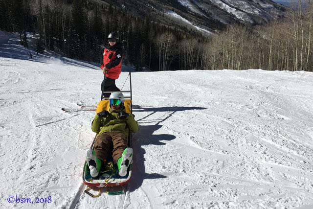 ski-patrol-ski-along-toboggan-ride