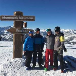 mammoth mountain family skiing