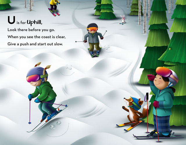 The letter U from the alphabet book A-B-Skis!