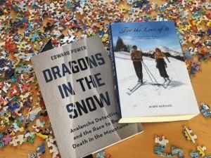 best new ski books and a ski stamp puzzle
