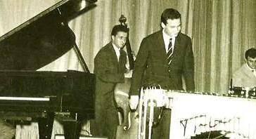 Da sinistra, Freddy Mancini, Gino Basso, Paolo Conte (vibrafono), Piero Gasparini.