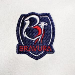 White Red and Black Bravura Hoodie Crest