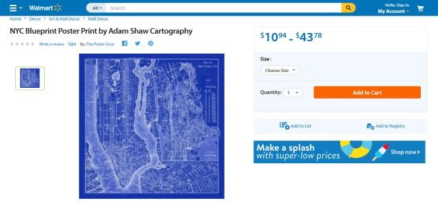 Walmart NYC blueprint