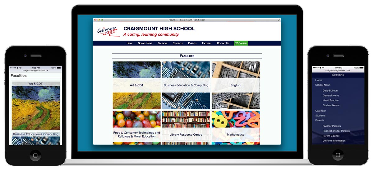 Craigmount High School site screenshots