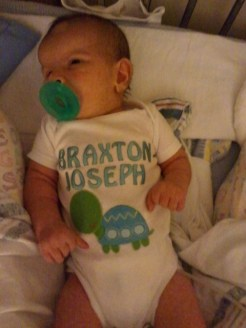 Braxton in his going home outfit