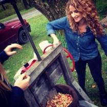 making apples into cider in VT