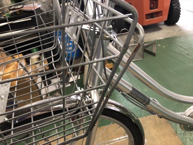 自転車カゴ 修理