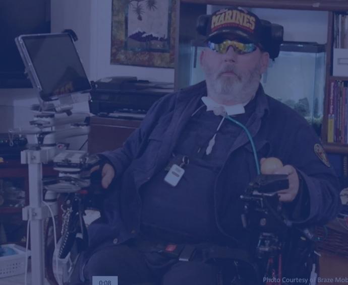 Photo of Braze Mobility Customer Phil, US Marines Veteran