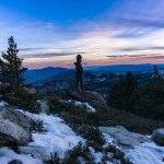 Bitter Cold Sunset. San Jacinto Peak. CA.