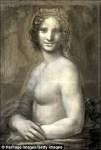 炭筆素描畫 疑為蒙娜麗莎裸體版