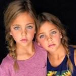 美到逆天! 7歲蘿莉雙胞胎簽約模特兒公司