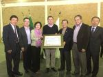 洪慈和僑務諮詢委員的長青公司30週年慶回饋社會慈善救濟捐贈儀式