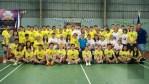 菲華青年服務團羽球賽開幕 陳柏材開球為運動員監誓