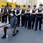 多國聲援美國示威 倫敦23人被捕