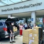 聖地牙哥台灣中心贈夏普醫院防護設備
