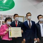 僑務顧問洪呂麗月獲頒榮譽市民
