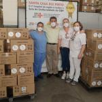 駐巴西代表與聖荷里貝市仁慈堂姊妹慈善醫院舉行視訊捐贈儀式