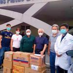 瑪哪於斯教會捐贈防疫醫療物資給亞瑪遜州立醫療物資中心和醫院