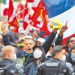 歐洲勞動節 民眾示威爆警民衝突