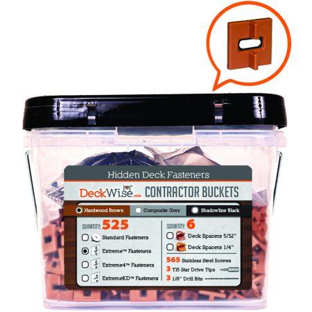 DeckWise® Ipe Clip Extreme Short  Hidden Deck Fasteners Contractor Buckets 525 Count