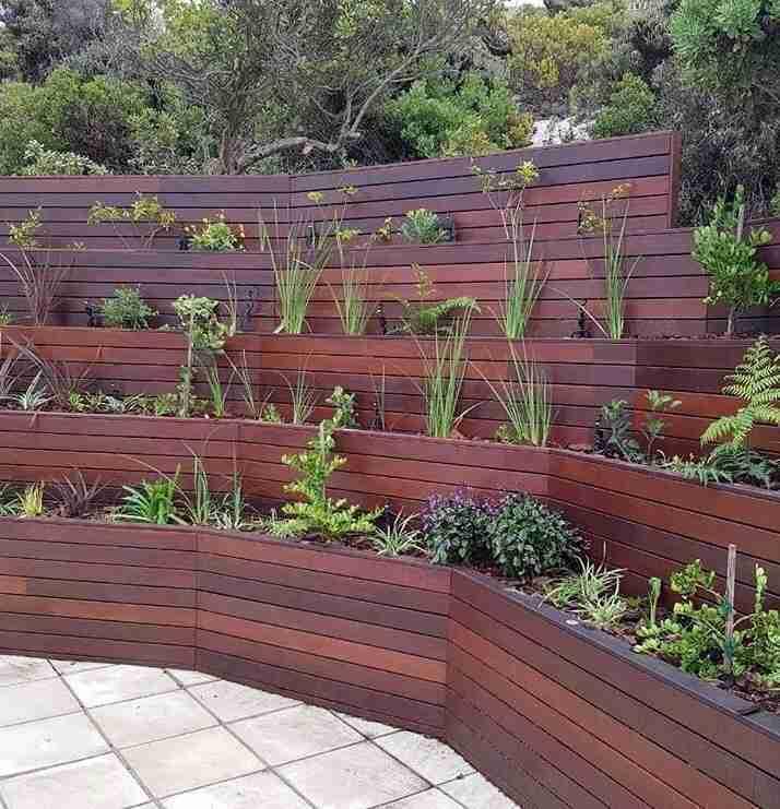 Ipe lumber multi level planter