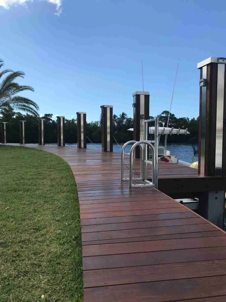 Ipe lumber dock