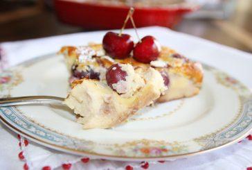 Clafoutis de cerejas com queijo ricota