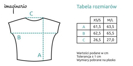 koszulka oversize parrot front amazonas rozmiarówka