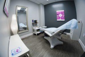 waxing room at waxing salon in Orlando