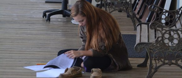 Brazos River Charter School Student Studying