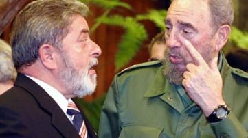 Lula and Fidel Castro