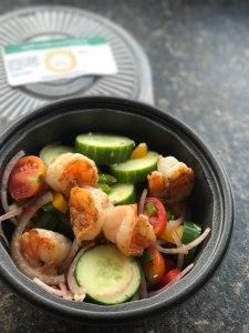Greek Salad with Grilled Shrimp