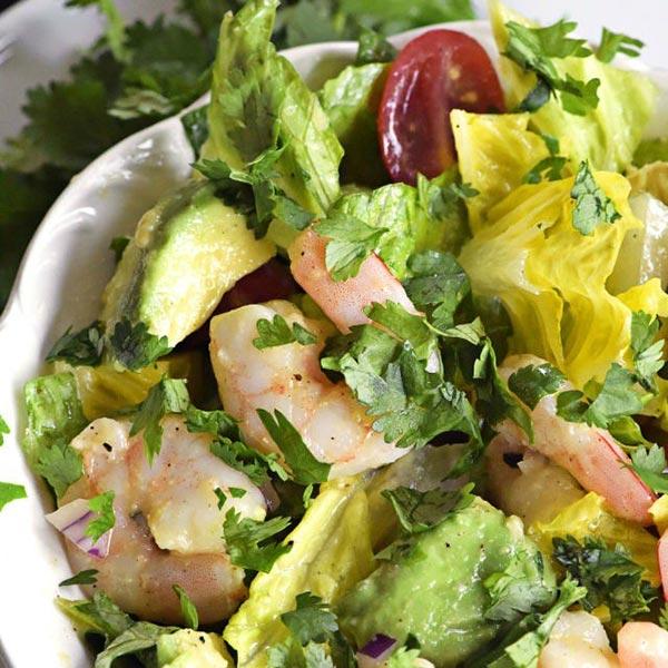 cilantro lime shrimp avocado