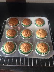 Wheat orange muffin tray