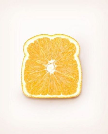 slice of bread made from orange
