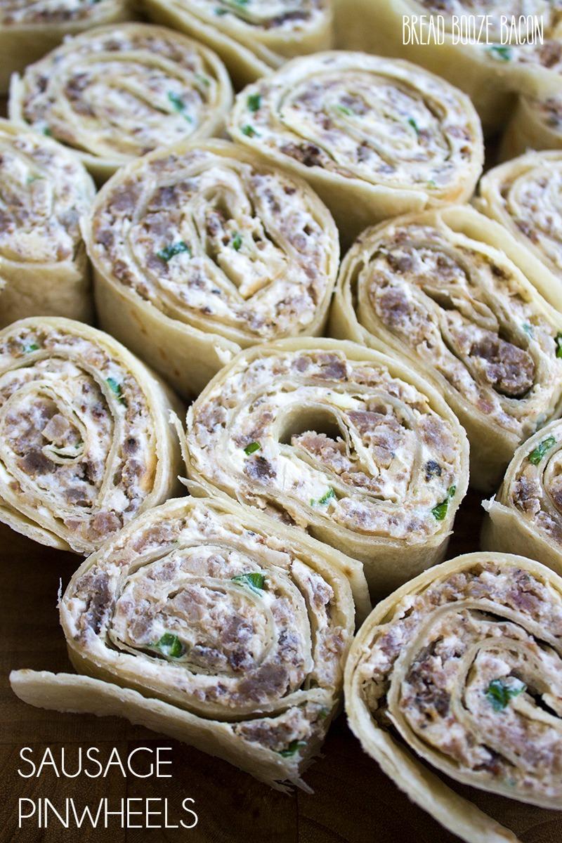 Sausage Pinwheel Recipe {Bread Booze Bacon}