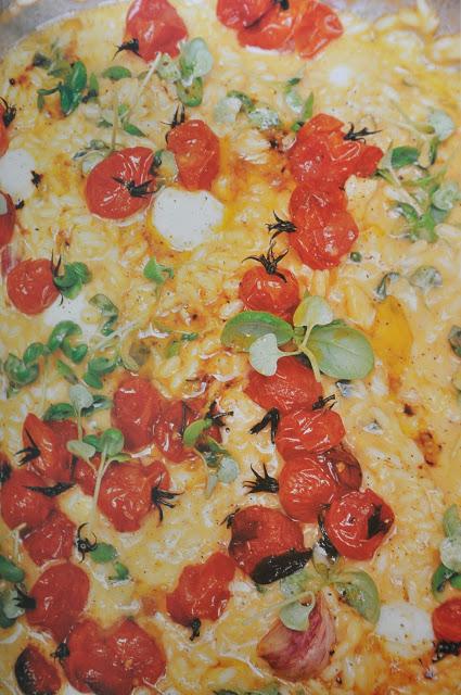 Cherry tomatoes and mozzarella risotto
