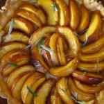 Peach and franginane tart