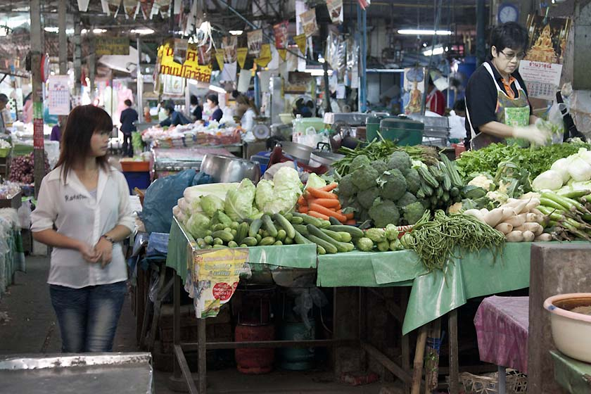 Ton Lamyai part of Wororot Market