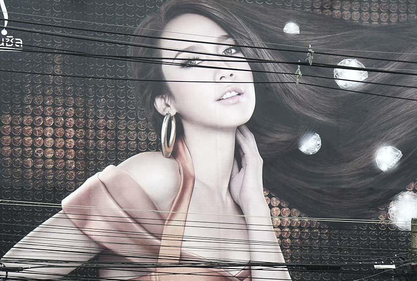 Advertising Poster of girl, Chiang Mai