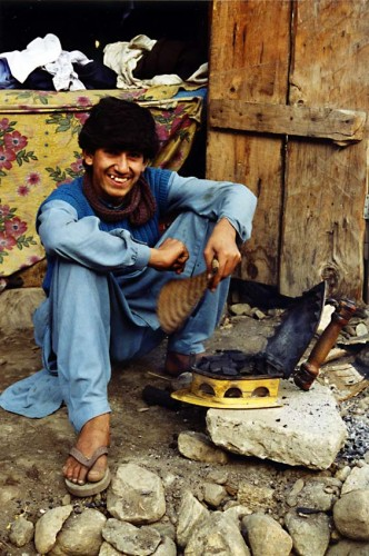 Photo: Tony 1995, Ironing man, Naran, Kaghan Valley
