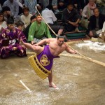 Featured photo: Simon Q Flickr, Wikimedia, Sumo bow-twirling ceremony, May 2014